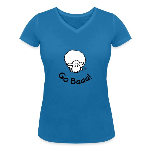 Sheep Go Baaa! - Women's Organic V-Neck T-Shirt by Stanley & Stella