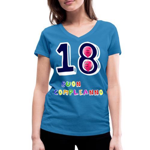 18th birthday - T-shirt ecologica da donna con scollo a V di Stanley & Stella