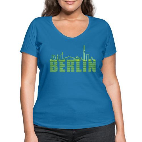 Skyline Berlin - Frauen Bio-T-Shirt mit V-Ausschnitt von Stanley & Stella