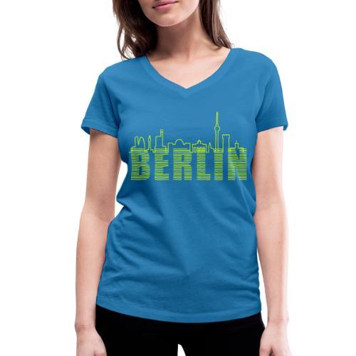 Skyline di Berlino - T-shirt ecologica da donna con scollo a V di Stanley & Stella
