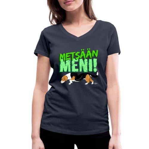 Dreeveri Metsään II - Stanley & Stellan naisten v-aukkoinen luomu-T-paita