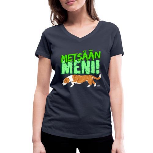 Dreeveri Metsään - Stanley & Stellan naisten v-aukkoinen luomu-T-paita