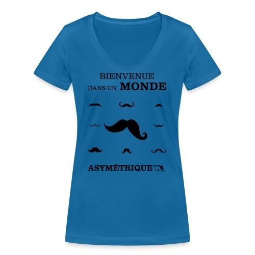 Bienvenue dans Monde Asymetrique - T-shirt bio col V Stanley & Stella Femme