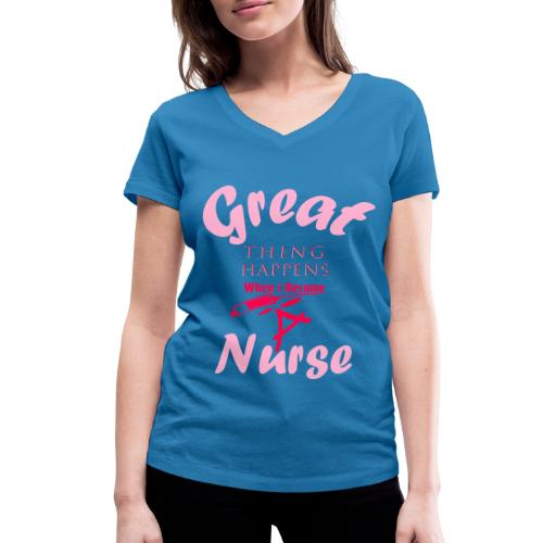 Nurse Summer 2019 - T-shirt bio col V Stanley & Stella Femme