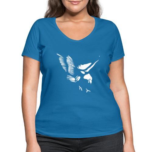 Aquila - T-shirt ecologica da donna con scollo a V di Stanley & Stella