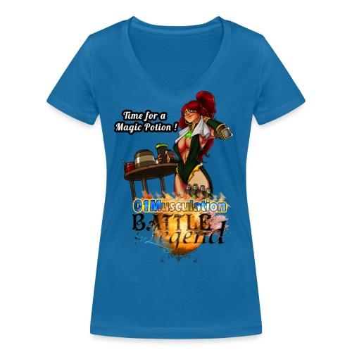 Mythrilisatrice- Battle for Legend X 01Musculation - T-shirt bio col V Stanley & Stella Femme