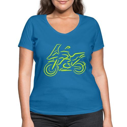Motorrad Fahrer, Bike, Biker, 1200 - Frauen Bio-T-Shirt mit V-Ausschnitt von Stanley & Stella
