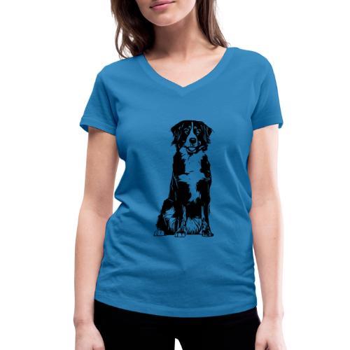 Berner Sennenhund Hunde Design Geschenkidee - Frauen Bio-T-Shirt mit V-Ausschnitt von Stanley & Stella