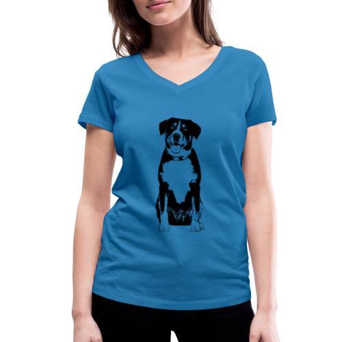 Entlebucher Sennenhund Hunde Design Geschenkidee - Frauen Bio-T-Shirt mit V-Ausschnitt von Stanley & Stella