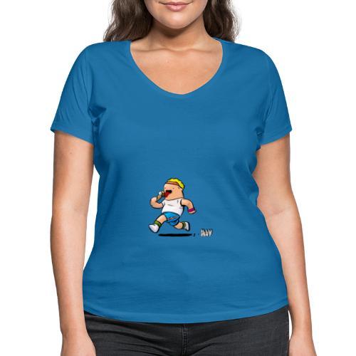 STE 0007 00 Eisdiaet - Frauen Bio-T-Shirt mit V-Ausschnitt von Stanley & Stella