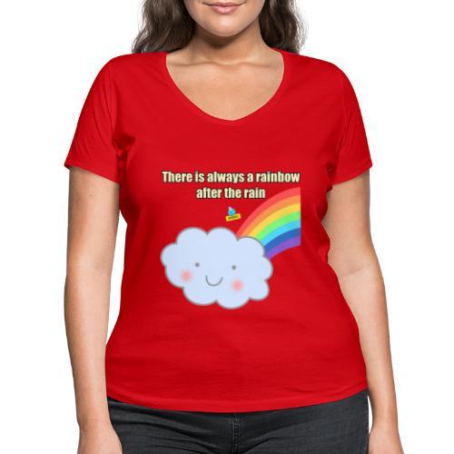 Bubbly! Rainbow - T-shirt ecologica da donna con scollo a V di Stanley & Stella