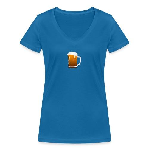 Bier - Frauen Bio-T-Shirt mit V-Ausschnitt von Stanley & Stella