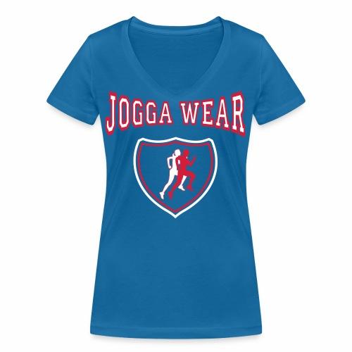 Joggawear T mark Piece1 - Women's Organic V-Neck T-Shirt by Stanley & Stella