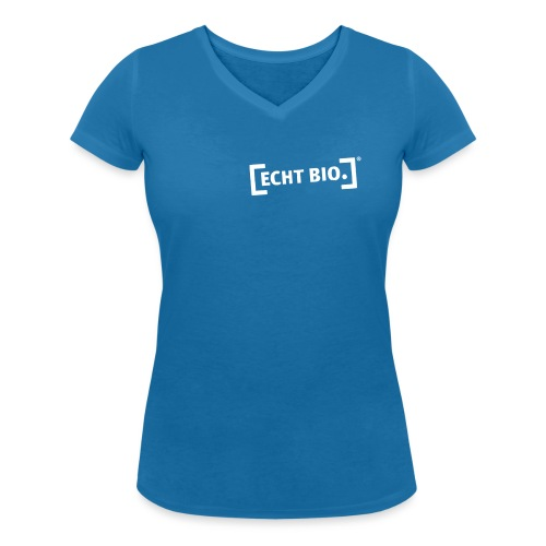 ECHT BIO weiss - Frauen Bio-T-Shirt mit V-Ausschnitt von Stanley & Stella