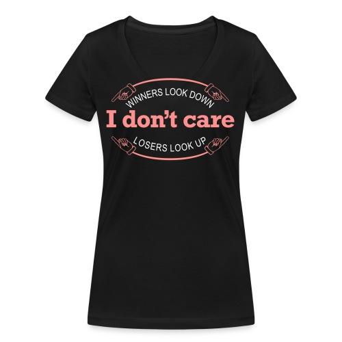 Winners Looks Down Losers Looks Up - Økologisk Stanley & Stella T-shirt med V-udskæring til damer