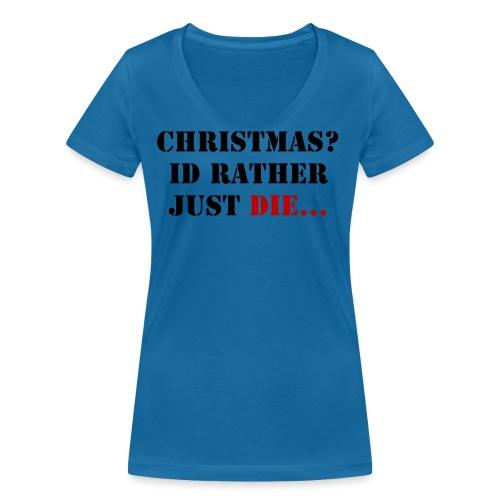 Christmas joy - Women's Organic V-Neck T-Shirt by Stanley & Stella