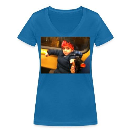 Rojbin gesbin - Ekologisk T-shirt med V-ringning dam från Stanley & Stella