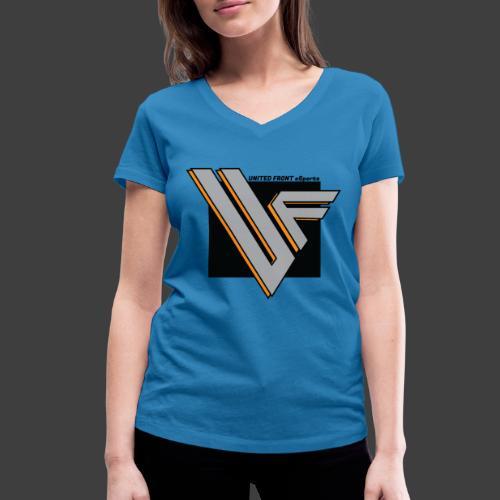 United Front - Stanley & Stellan naisten v-aukkoinen luomu-T-paita