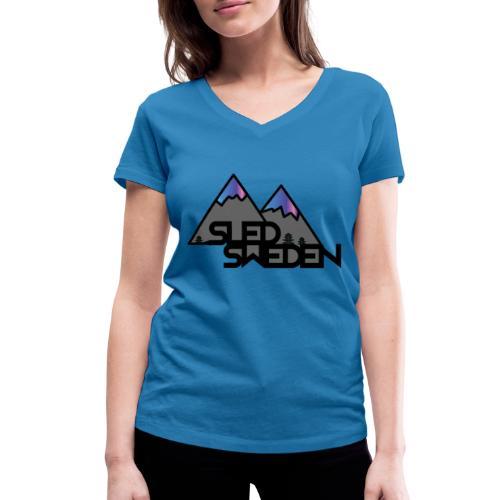 SledSweden Official Logo Special Edition - Ekologisk T-shirt med V-ringning dam från Stanley & Stella