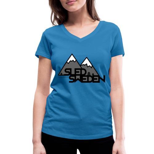 SledSweden Logo - Ekologisk T-shirt med V-ringning dam från Stanley & Stella