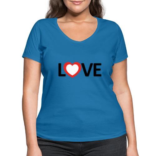 Love - Camiseta ecológica mujer con cuello de pico de Stanley & Stella