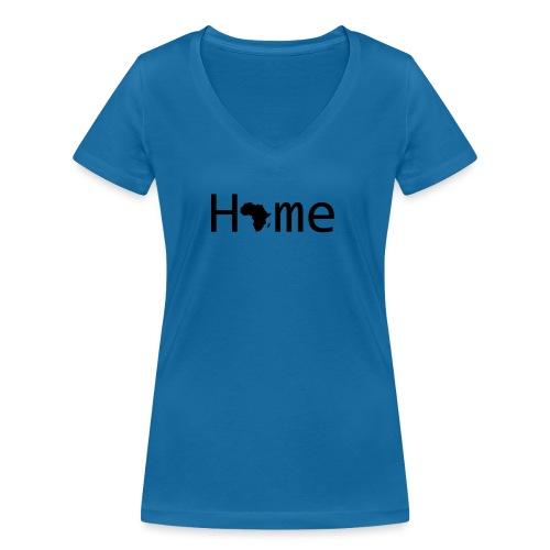 Sweet Home Africa - Frauen Bio-T-Shirt mit V-Ausschnitt von Stanley & Stella