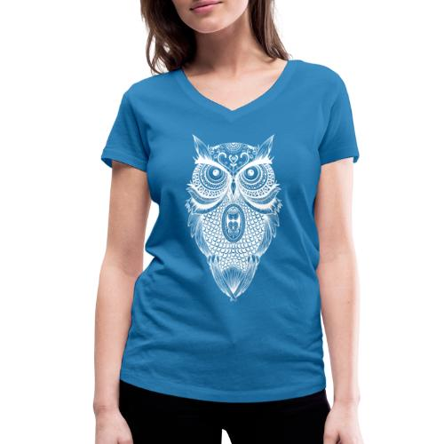 owl - Women's Organic V-Neck T-Shirt by Stanley & Stella