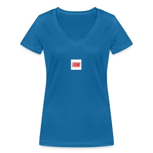 LogoSample ByTailorBrands - Vrouwen bio T-shirt met V-hals van Stanley & Stella