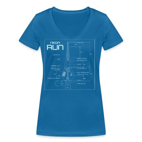NeonRun - Vrouwen bio T-shirt met V-hals van Stanley & Stella