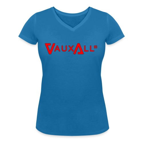 VauxAll Logo | Red | Original - Women's Organic V-Neck T-Shirt by Stanley & Stella