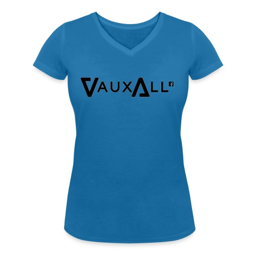 VauxAll Logo | Black | Original - Women's Organic V-Neck T-Shirt by Stanley & Stella