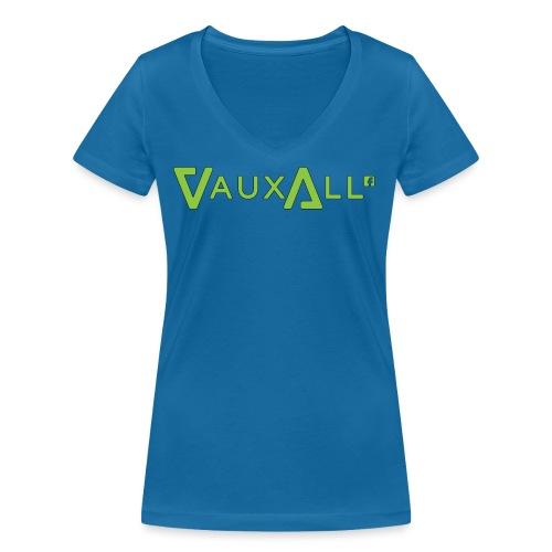 VauxAll Logo | Green | Original - Women's Organic V-Neck T-Shirt by Stanley & Stella