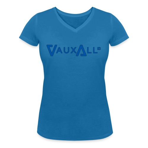 VauxAll Logo | Blue | Original - Women's Organic V-Neck T-Shirt by Stanley & Stella