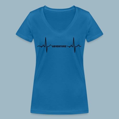 ECG long short black - Women's Organic V-Neck T-Shirt by Stanley & Stella