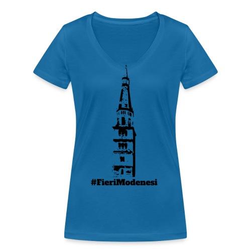 #FieriModenesi - T-shirt ecologica da donna con scollo a V di Stanley & Stella