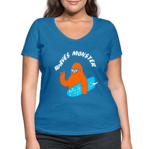 Waves Monster - T-shirt bio col V Stanley & Stella Femme