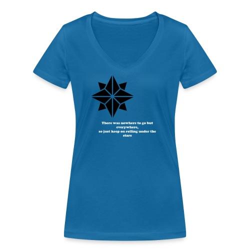 North Star - T-shirt ecologica da donna con scollo a V di Stanley & Stella