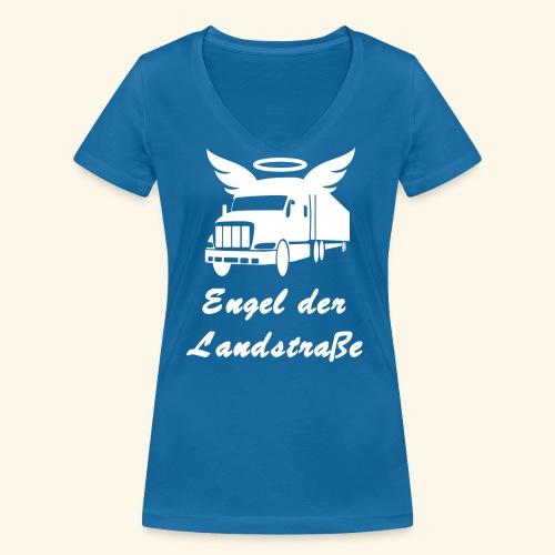 Engel der Landstrasse - Frauen Bio-T-Shirt mit V-Ausschnitt von Stanley & Stella