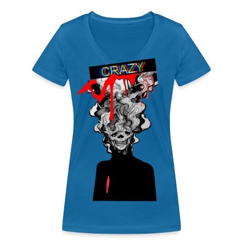 CALAVERA Algo fuera de lo normal - Camiseta ecológica mujer con cuello de pico de Stanley & Stella