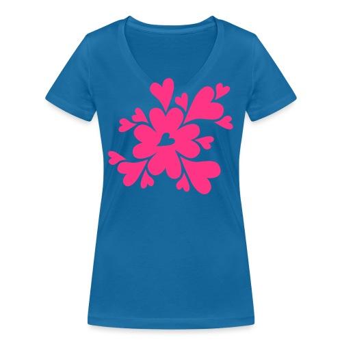 HJÄRTAN - Ekologisk T-shirt med V-ringning dam från Stanley & Stella