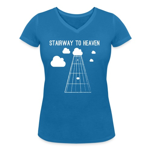 Stairway to heaven - Vrouwen bio T-shirt met V-hals van Stanley & Stella