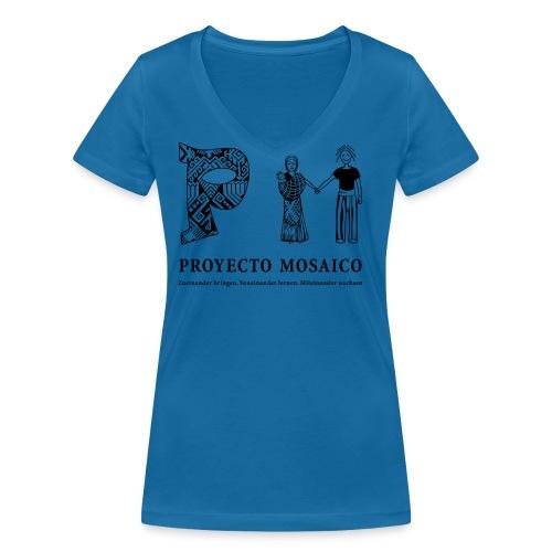 pm logo 1c de png - Frauen Bio-T-Shirt mit V-Ausschnitt von Stanley & Stella