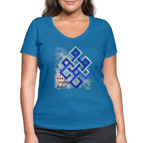 endless knot - Camiseta ecológica mujer con cuello de pico de Stanley & Stella