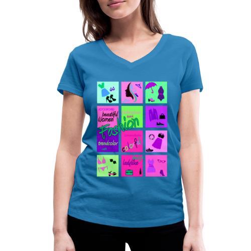 Fashion - Frauen Bio-T-Shirt mit V-Ausschnitt von Stanley & Stella