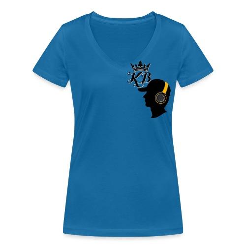headphones - Women's Organic V-Neck T-Shirt by Stanley & Stella