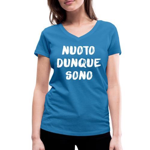 NUOTO DUNQUE SONO - T-shirt ecologica da donna con scollo a V di Stanley & Stella