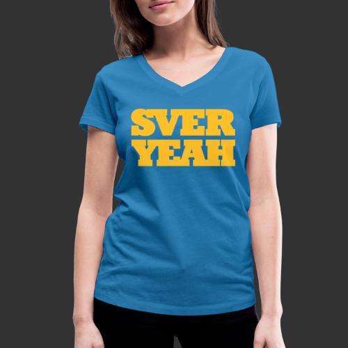 SVERYEAH BlåGul - Ekologisk T-shirt med V-ringning dam från Stanley & Stella