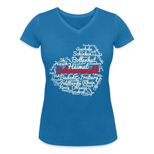 Schwarzwald Herz - Frauen Bio-T-Shirt mit V-Ausschnitt von Stanley & Stella