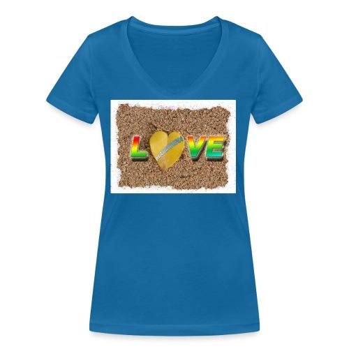 love,madinina - T-shirt bio col V Stanley & Stella Femme