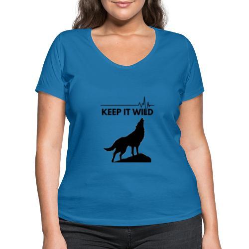 Keep it wild - Frauen Bio-T-Shirt mit V-Ausschnitt von Stanley & Stella